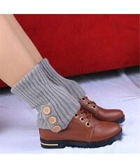 Cixi Pletené návleky na nohy šedé 40 cm