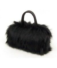 Cixi Kožešinová chlupatá mini kabelka černá