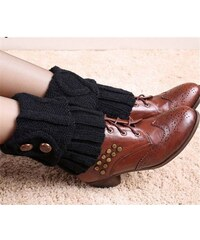 Cixi Pletené návleky na boty černé 15 cm
