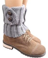 Cixi Pletené návleky na boty šedé 15 cm