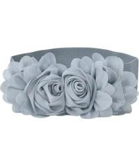 Lifestyle Elastický dámský šedý pásek kytička