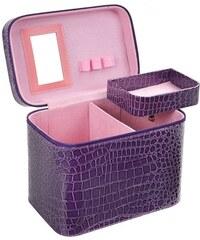BMD kosmetický kufřík fialový krokodýl