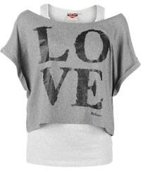 Dámské tričko Lee Cooper Double Layer - šedá