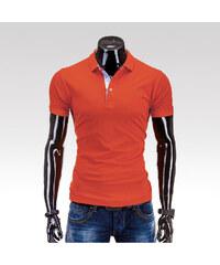Ombre clothing pánské tričko Freddy oranžové S
