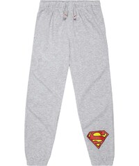 Superman Jogginghose grau in Größe 104 für Jungen aus 80% Baumwolle 20% Polyester