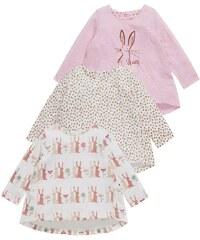 Next 3 PACK Langarmshirt pink
