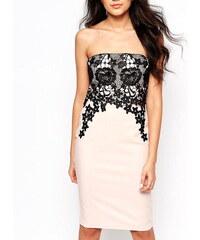 Elegantní šaty Paper Dolls lace overlay
