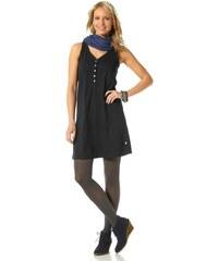 FLASHLIGHTS Sportovní černé šaty s výstřihem