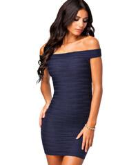 Dámské sexy bodycon šaty tmavěmodré