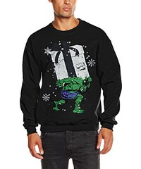 Brands In Limited Herren Sweatshirt Christmas Hulk
