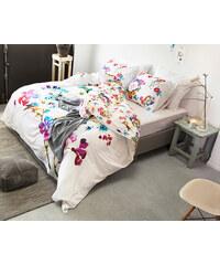 Dreamhouse Bedding Parure housse de couette 140x200/220 cm + 1 taie d'oreiller 60x70 cm Valeria - blanc