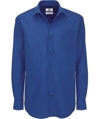 Pánská popelínová košile Heritage - Královsky modrá S