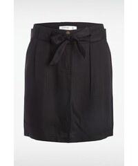 Jupe ceinture à nouer Noir Tencel - Femme Taille 34 - Bonobo