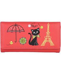Lesara Geldbörse mit Katzen-Motiv - Rot