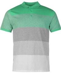 Pierre Cardin Panel Polo Shirt pánské Green/Grey