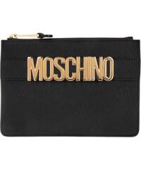 Moschino Sacs de Soirée, Logo Pochette Black en noir