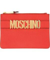 Moschino Sacs de Soirée, Logo Pochette Red en rouge