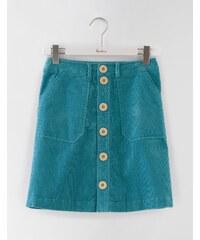 Minirock mit durchgehender Knopfleiste Blau Damen Boden