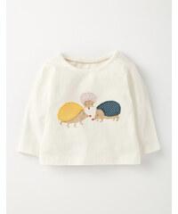 Hübsches T-Shirt mit Applikation Cremefarben Baby Boden
