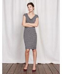 Kleid mit Wasserfallausschnitt Grau Damen Boden