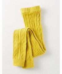 Leggings mit Zopfstrickmuster Gelb Baby Boden