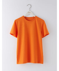 Vorgewaschenes T-Shirt Orange Herren Boden