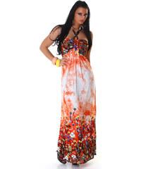 000 Dámské šaty letní maxi Orange