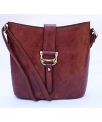 Elegantní společenská kabelka, Barva Hnědá Wild by loranzo b6821