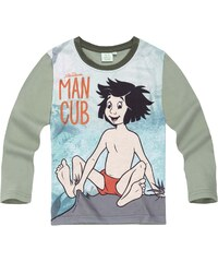 Disney Das Dschungelbuch Langarmshirt khaki in Größe 98 für Jungen aus 100% Baumwolle Vorderseite: 100% Polyester