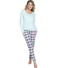 Italian Fashion Dámské pyžamo Manuela tyrkysové