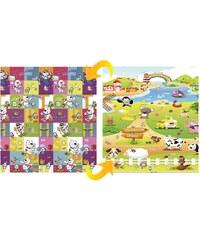 Delta Dětský pěnový oboustranný koberec Medvídci a farma