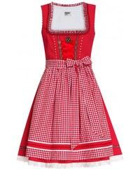 Distler Damen Dirndl rot/weiß, 65 cm Rocklänge ca.65 cm rot aus Baumwolle