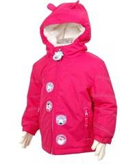 Bugga Dívčí zimní bunda se zvířátky - růžová