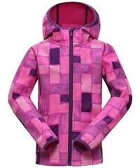 ALPINE PRO Dívčí softshellová bunda Binko - růžová