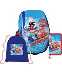 SunCe Anatomický školní batoh ABB SET - Disney Cars