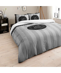 Dreamhouse Bedding Parure housse de couette 200x200/220 cm + 2 taies d'oreiller 60x70 cm Love of Dream - gris