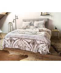 Dreamhouse Bedding Parure housse de couette 140x200/220 cm + 1 taie d'oreiller 60x70 cm Pompei - taupe