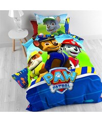 Nickelodeon Parure housse de couette 140x200/220 cm + 1 taie d'oreiller 60x70 cm Big Paw Patrol Adventure - 100% coton
