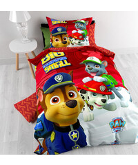 Nickelodeon Parure housse de couette 140x200/220 cm + 1 taie d'oreiller 60x70 cm Big Paw Patrol Cotton rouge - 100% coton