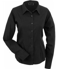 Dámská košile Slim-fit - Černá XS