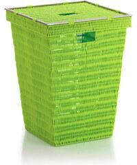 22607 NOBLESSE Koš na prádlo z umělého ratanu - citronově zelená