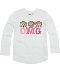 LamaLoLi Langarmshirt weiß in Größe 104 für Mädchen aus 100% Baumwolle