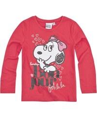 Snoopy Langarmshirt pink in Größe 116 für Mädchen aus 100% Baumwolle