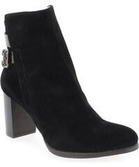 Boots Femme Progetto en Cuir velours Noir