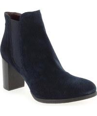 Boots Femme Progetto en Cuir velours Bleu