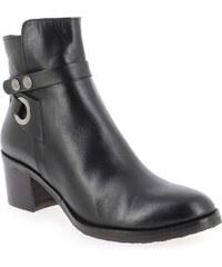 Boots Femme Progetto en Cuir Noir