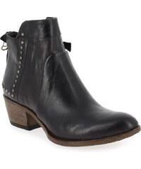 Boots Femme MJUS en Cuir Rouge