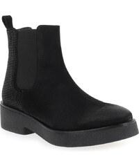 Boots Femme Weekend en Cuir velours Noir