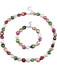 2-dílná souprava šperků ze sladkovodních perel multicolor