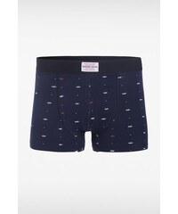 Caleçon boxer à motifs noeuds Bleu Coton - Homme Taille L - Bonobo